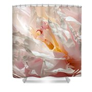 White And Pink Peony 3 Shower Curtain