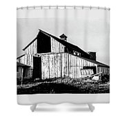 White Barn Shower Curtain