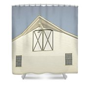White Barn South Woodstock Vermont Shower Curtain
