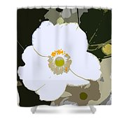 White Beauty Work Number 6 Shower Curtain