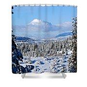 White Blanket Shower Curtain