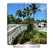 White Bridge Shower Curtain