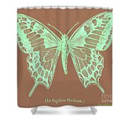 White Butterfly Swallow Tail Le Papillon Machaon Shower Curtain