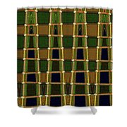White Cactus Flower Abstract Shower Curtain