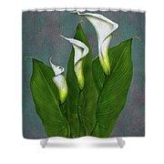 White Calla Lilies Shower Curtain