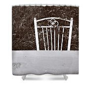 White Chair #0626 Shower Curtain