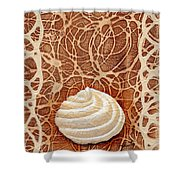 White Chocolate Swirl Shower Curtain