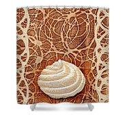 White Chocolate Swirl Shower Curtain