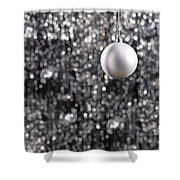White Christmas Bauble  Shower Curtain