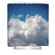 White Clouds In The Sky Shower Curtain