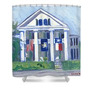 White Columns Shower Curtain