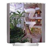 Corporate Woods White Lobby Shower Curtain