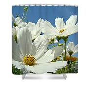 White Daisy Flowers Fine Art Photography Daisies Baslee Troutman Shower Curtain
