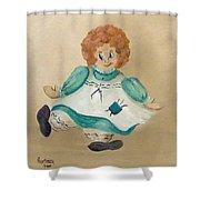 White Doll Shower Curtain