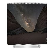White Domes At Night  Shower Curtain