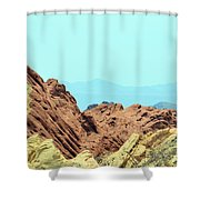 White Domes Beauty Shower Curtain
