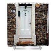 White Door 23 Shower Curtain