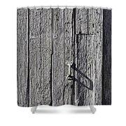 White Door Handle Shower Curtain
