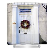 White Door In Charleston Sc Shower Curtain by Susanne Van Hulst