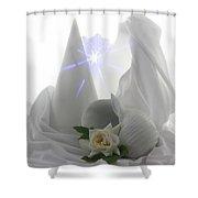White Dream Shower Curtain