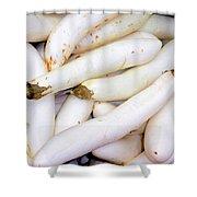 White Eggplants Shower Curtain