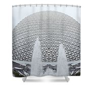 White Epcot Shower Curtain