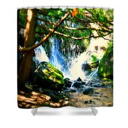 White Falls Shower Curtain