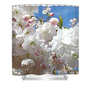 White Floral Tree Flower Blossoms Art Baslee Troutman Shower Curtain