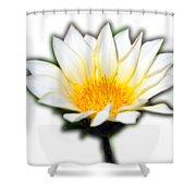 White Flower T-shirt Shower Curtain