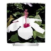 White Flower Work Number 4 Shower Curtain