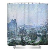 White Frost Jardin Des Tuileries Shower Curtain