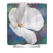 Winter White Geranium  Shower Curtain
