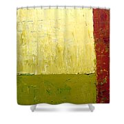 White Green And Red Shower Curtain