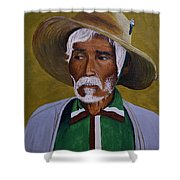 White Haired Man - 2d Shower Curtain