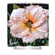 White Hibiscus Shower Curtain