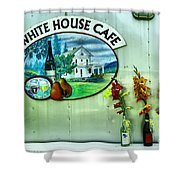 White House Cafe Shower Curtain