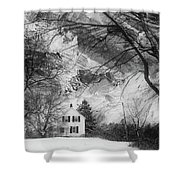 White House In Winter Shower Curtain