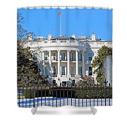 White House South Lawn With Snow Shower Curtain