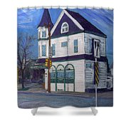 White House Tavern Shower Curtain