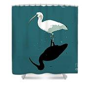 White Ibis Shower Curtain