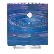 White Into Blue Series 3 Shower Curtain