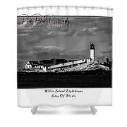 White Island Lighthouse Shower Curtain