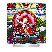 White Jambhala 3 Shower Curtain