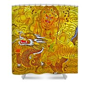 White Jambhala 5 Shower Curtain