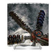 White Knuckle Test Shower Curtain