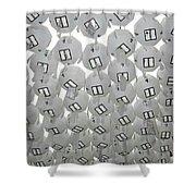 White Lanterns Shower Curtain