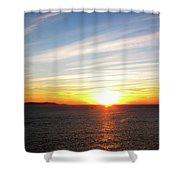 White Light Shower Curtain