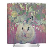 White Lilacs Shower Curtain