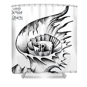 White Lily From The Land Of Absurd Shower Curtain