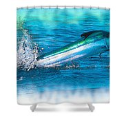 White Marlin -  From The Outer Banks Of North Carolina To Cape M Shower Curtain
